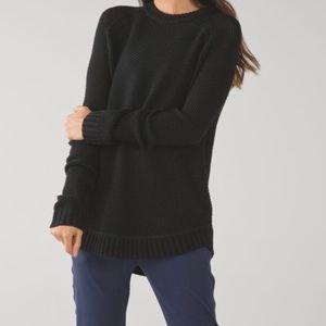 Lululemon Black Passage Sweater